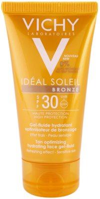 Vichy Idéal Soleil Bronze gel-fluido hidratante facial para potenciar el bronceado SPF 30