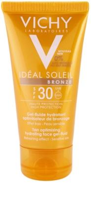 Vichy Idéal Soleil Bronze hidratáló gél - lesülést optimalizáló folyadék az arcbőrre SPF 30