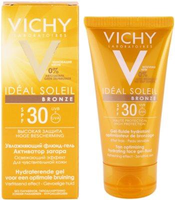 Vichy Idéal Soleil Bronze hidratáló gél - lesülést optimalizáló folyadék az arcbőrre SPF 30 1
