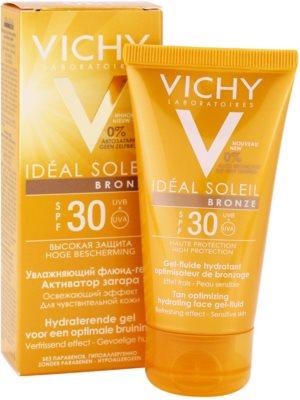 Vichy Idéal Soleil Bronze hidratáló gél - lesülést optimalizáló folyadék az arcbőrre SPF 30 2