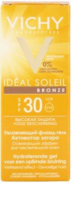 Vichy Idéal Soleil Bronze hidratáló gél - lesülést optimalizáló folyadék az arcbőrre SPF 30 3