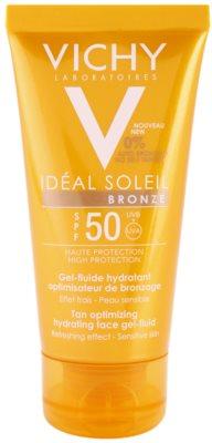 Vichy Idéal Soleil Bronze nawilżający żel-fluid do twarzy optymalizujący opaleniznę SPF 50