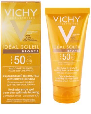Vichy Idéal Soleil Bronze Gel - fluid hidratant pentru bronzarea optima a fetei SPF 50 1