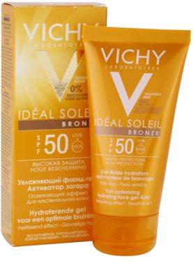 Vichy Idéal Soleil Bronze Gel - fluid hidratant pentru bronzarea optima a fetei SPF 50 2