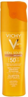 Vichy Idéal Soleil Bronze Feuchtigkeitsspendendes Spray zur Verbesserung der Bräunung SPF 50