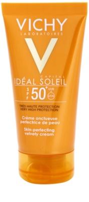 Vichy Idéal Soleil Capital защитен крем за кадифено нежна кожа на лицето SPF 50+