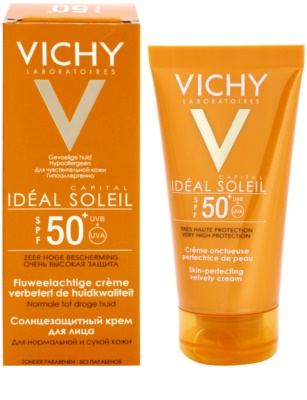 Vichy Idéal Soleil Capital védő krém a bársonyos bőrért SPF 50+ 1