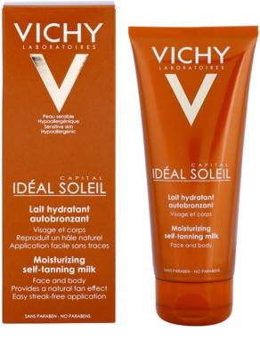 Vichy Idéal Soleil Capital hydratační samoopalovací mléko na obličej a tělo 1