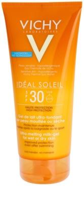 Vichy Idéal Soleil Gel leitoso para peles secas de fácil aplicação SPF 30