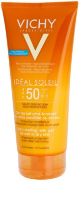 Vichy Idéal Soleil ултра-топящ млечен гел за влажна и суха кожа SPF 50