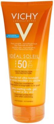Vichy Idéal Soleil ultra talilni mlečni gel za mokro in suho kožo SPF 50