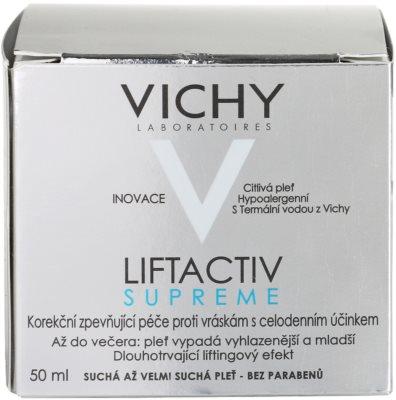 Vichy Liftactiv Supreme nappali liftinges kisimító krém száraz és nagyon száraz bőrre 4