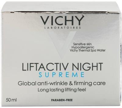 Vichy Liftactiv Supreme noční zpevňující a protivráskový krém s liftingovým efektem 3