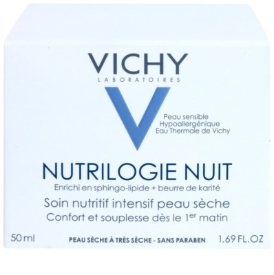 Vichy Nutrilogie nočna intenzivna krema za suho do zelo suho kožo 3
