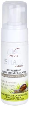Victoria Beauty Snail Extract espuma de limpeza refrescadora com extrato de baba de caracol