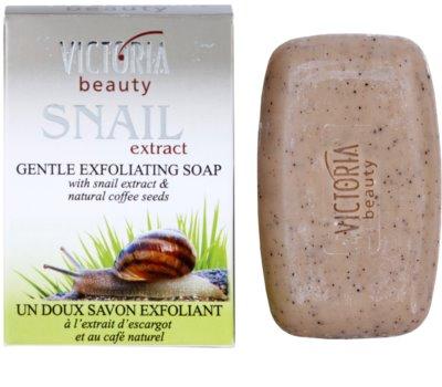 Victoria Beauty Snail Extract jabón exfoliante suave con extracto de baba de caracol y café 2