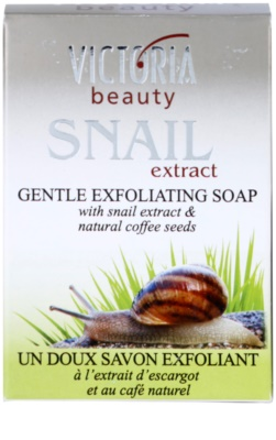 Victoria Beauty Snail Extract jabón exfoliante suave con extracto de baba de caracol y café