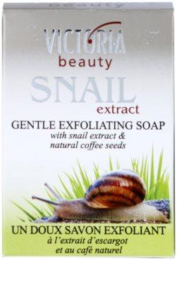 Victoria Beauty Snail Extract jemné exfoliačné mydlo s extraktom zo slimáka a výťažkom z kávy