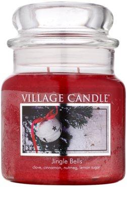 Village Candle Jingle Bells dišeča sveča   srednja