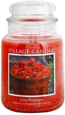 Village Candle Juicy Raspberry illatos gyertya   nagy