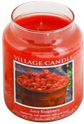 Village Candle Juicy Raspberry illatos gyertya   nagy 1