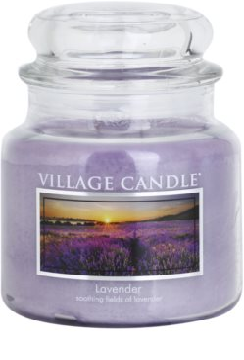Village Candle Lavender dišeča sveča   srednja
