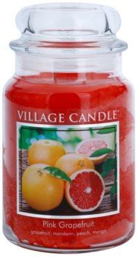 Village Candle Pink Grapefruit dišeča sveča   velika