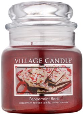 Village Candle Peppermint Bark illatos gyertya   közepes