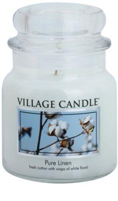 Village Candle Pure Linen illatos gyertya   közepes
