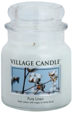 Village Candle Pure Linen ароматна свещ   среден