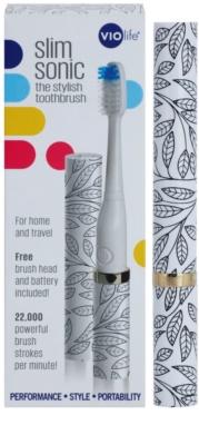 Violife Slim Sonic All Over Petals електрична зубна щітка на батарейках із запасною головкою 3