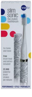 Violife Slim Sonic All Over Petals електрична зубна щітка на батарейках із запасною головкою 4