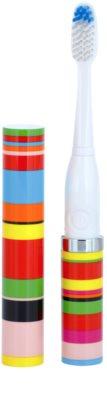 Violife Slim Sonic Candy Stripe baterijska sonična zobna ščetka z nadomestno glavo