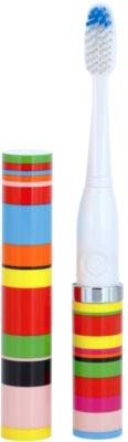 Violife Slim Sonic Candy Stripe звукова четка за зъби на батерии с резервна глава
