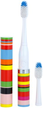 Violife Slim Sonic Candy Stripe baterijska sonična zobna ščetka z nadomestno glavo 1