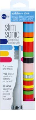 Violife Slim Sonic Candy Stripe baterijska sonična zobna ščetka z nadomestno glavo 3