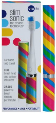 Violife Slim Sonic Carnival bateriový sonický kartáček s náhradní hlavicí 3