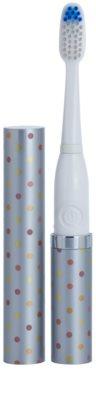 Violife Slim Sonic Silver Dots Baterie periuță de dinți sonic, cu cap de rezervă