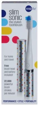 Violife Slim Sonic Silver Dots Baterie periuță de dinți sonic, cu cap de rezervă 4