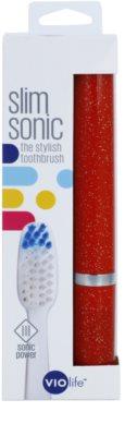 Violife Slim Sonic Garnet Shimmer cepillo de dientes sónico eléctrico con cabezal de recambio 3