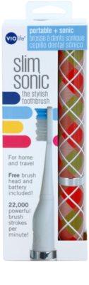 Violife Slim Sonic Gift Wrap cepillo de dientes sónico eléctrico con cabezal de recambio 3