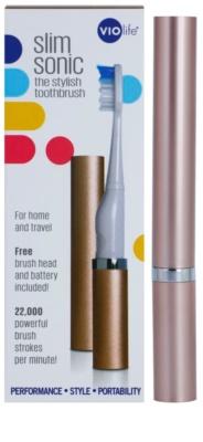 Violife Slim Sonic Rose Gold baterijska sonična zobna ščetka z nadomestno glavo 3