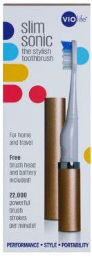 Violife Slim Sonic Rose Gold baterijska sonična zobna ščetka z nadomestno glavo 4