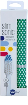 Violife Slim Sonic Holly escova de dentes sónica elétrica com cabeça de reposição 3