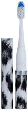 Violife Slim Sonic White Leopard escova de dentes sónica elétrica com cabeça de reposição