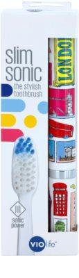 Violife Slim Sonic London електрична зубна щітка на батарейках із запасною головкою 3