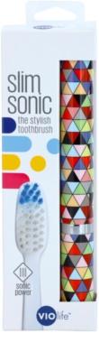 Violife Slim Sonic Prism escova de dentes sónica elétrica com cabeça de reposição 3