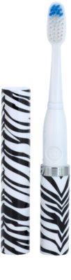 Violife Slim Sonic Zebra звукова четка за зъби на батерии с резервна глава