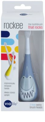 Violife Rockee Chomper Toothbrush For Children + 2 Replacement Heads 2