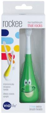 Violife Rockee Ribbit periuta de dinti pentru copii + 2 capete de schimb 2